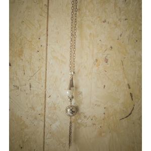 Vintage ketting met parel (faux)