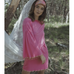 Vintage jurk flared mouwen