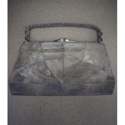 Vintage tas hagedissen leer