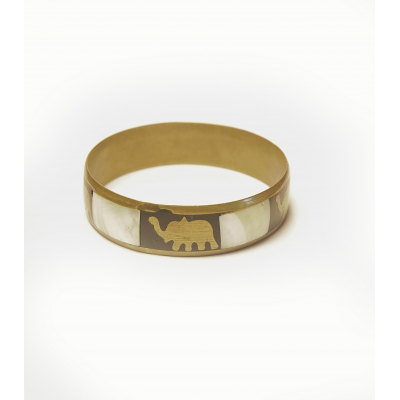 Vintage armband emaille cloisonné met olifant