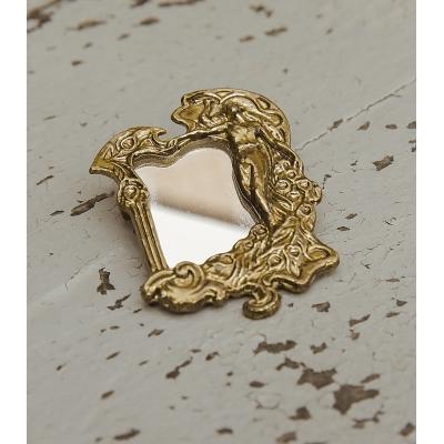 Vintage broche met spiegel