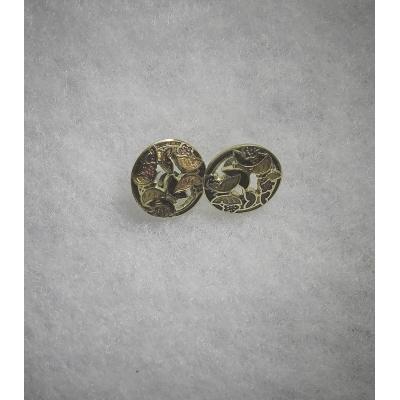Vintage Emaile cloisonne decor oorstekers met vlinders