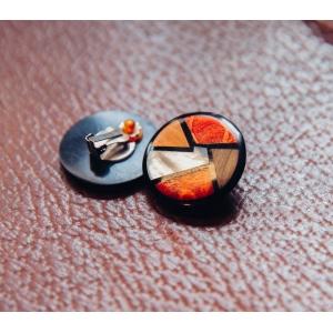 Vintage clip oorbellen met parelmoer-glans