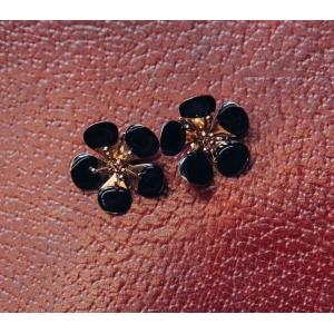 Vintage oorclips bloemvorm