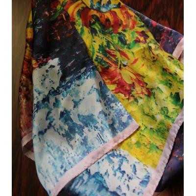 Vintage sjaal zijde