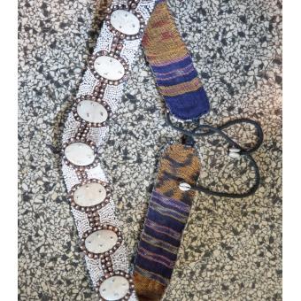 Vintage riem met kralen
