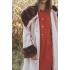 Vintage winterjas / mantel met brede fake fur kraag ( MT M/L)