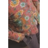Vintage vest van United colors of Benetton met fantasiebloemen ( 10 - 11 jaar)