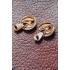 Vintage oorstekers, goudkleurig