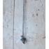 Zilveren vintage ketting met hanger ( parfumflesje?)
