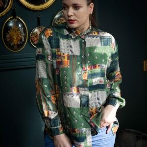 Vintage blouse met speelse print (MT L)