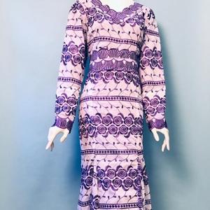 Vintage jurk (60s/70s) zeemeerminnen-model ( MT L)
