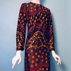 Vintage jurk (60s/70s) met speelse print ( MT M/L)