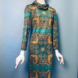 Vintage jurk (60s/70s) met colkraag ( MT M)