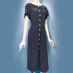 Vintage jurk (80s/90s) 100% zijde ( MT L)