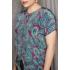 Vintage blouse met speelse Paisley print (MT S/M)