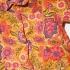Vintage blouse met fantasie bloemen ( 3 - 4 jaar)