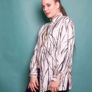 Vintage blouse 100% zijde (MT M/L)