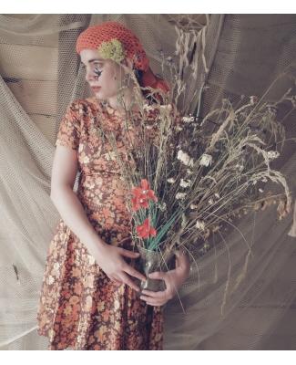 Vintage jurk bloemenpatroon 60s/70s