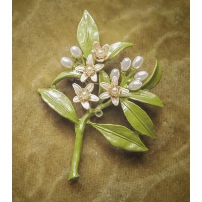 Luxe broche bloem