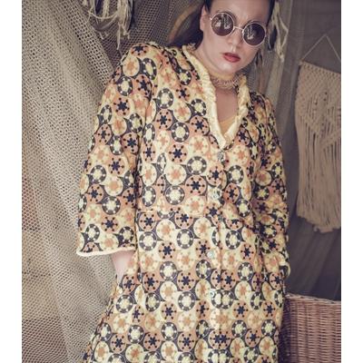 Doorknoop jurk-jas