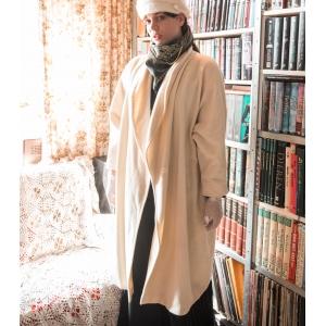 Vintage jas - mantel van Caren Pfleger wol - cashmere mix ( MT 40)
