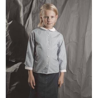 Vintage blouse van Cacharel met verticale strepen ( 7 - 8 jaar)