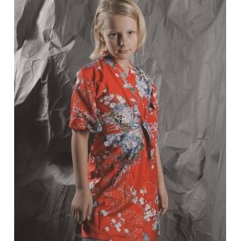 Vintage kimono van katoen ( 7 - 8  jaar)