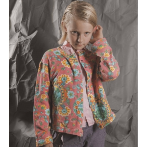 Vintage vest van United colors of Benetton met fantasiebloemen ( 10 - 11 jaar)