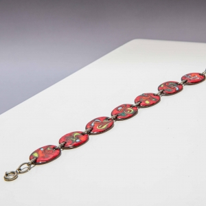 Vintage armband met abstracte plaatjes