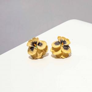 vintage oorstekers viooltje