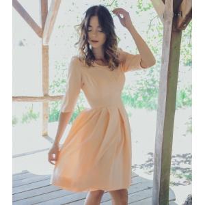 Vintage jurk (50s/60s) volledig van zijde ( MT XS/S)