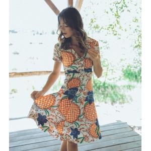Vintage jurk (60s/70s) met speels patroon ( MT S)