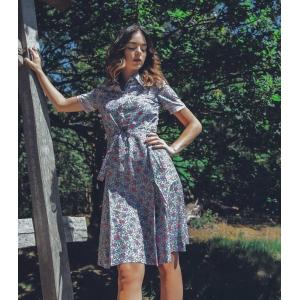 Vintage jurk (60s/70s) met lief bloemetjes patroon ( MT S)