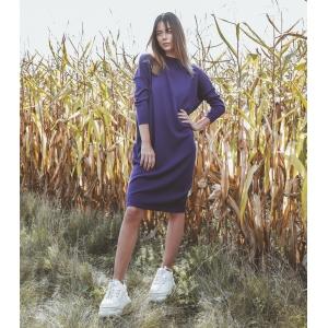 Vintage jurk (90s) van Sisley 100% wol (MT S)