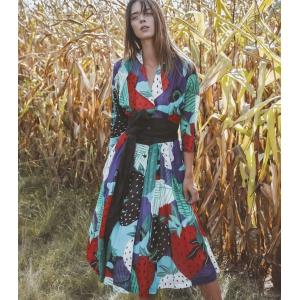 Vintage jurk van Haupt met zwierige A-lijn ( MT 36/38)