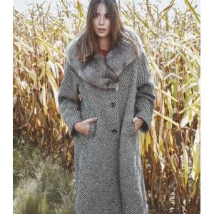 Vintage winterjas volledig van wol gemeleerd ( MT M/L)