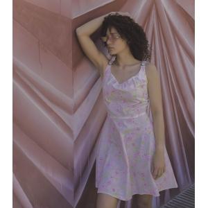 Vintage zomerjurk - zacht roze (MT S/M)