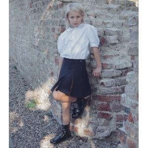 Vintage blouse met brede kraag en pofmouwen ( 8-9 jaar)