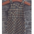 Vintage jurk/ overgooier geel geruit ( 3-4 jaar)