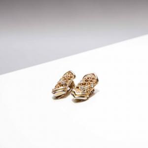 Vintage clip oorbellen, goudkleurig elegant