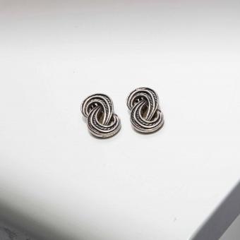 Vintage oorclips zilverkleurig elegant