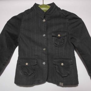 Burberry jas denim - krijtstreep ( 3 - 4 jaar)