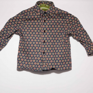 Vintage Cacharel blouse met speels patroon ( 2 - 3 jaar)