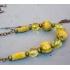Vintage ketting met luxe kralen geel-groen