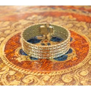 Vintage armband goudkleurig met luxe sluiting