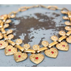 Luxe ketting met hartjes