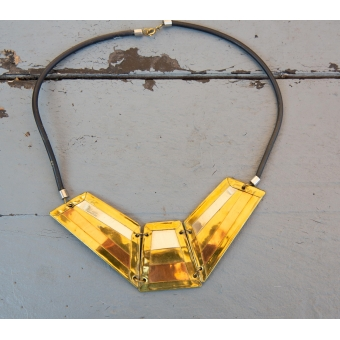 Vintage ketting met diverse goudkleurige tinten