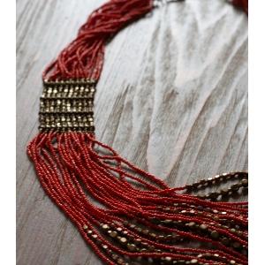 Vintage ketting bloedkoraal