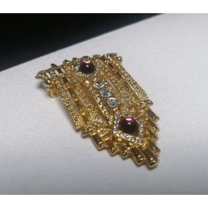 Vintage statement broche luxe ingelegd